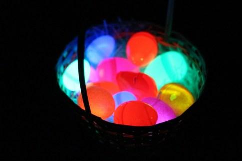 Glow-in-the-Dark Easter Eggs in basket