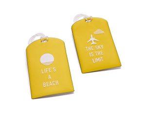Yellow Luggage Tags 3.99e MA