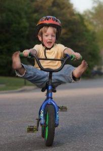 Fearless Kid on a Bike
