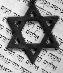 Star of David with Hebrew Bible