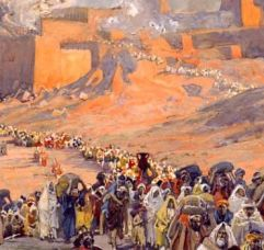 Jerusalem Jewish People going into exile