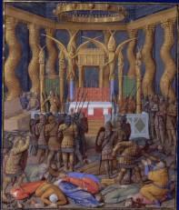 Popmey's Seige of Jerusalem, Painting by Jean Fouquet