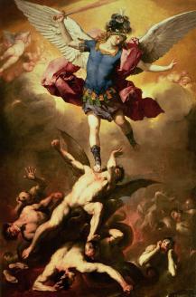 Archangel Michael battles Satan, Luca Giordano