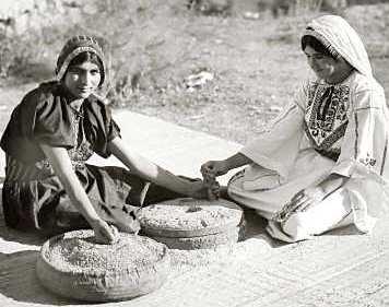 Arab Women Baking Bread