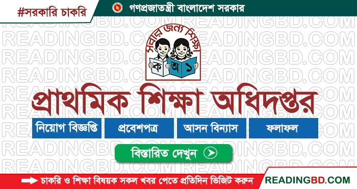 Directory of Primary Education Job Circular 2019