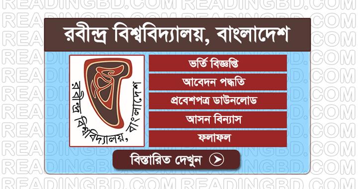 Rabindra University Bangladesh Admission