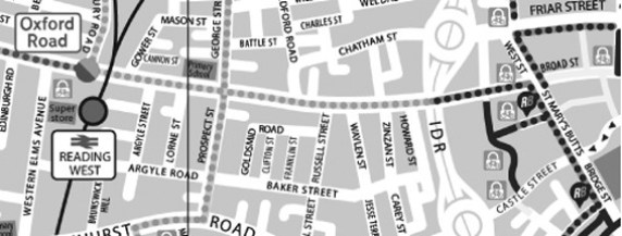 Oxford Road map