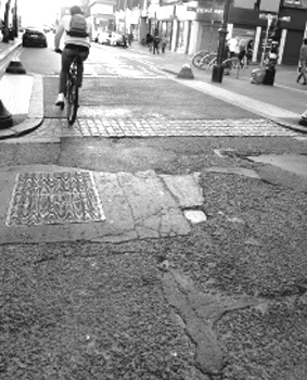 Potholes in Oxford Road
