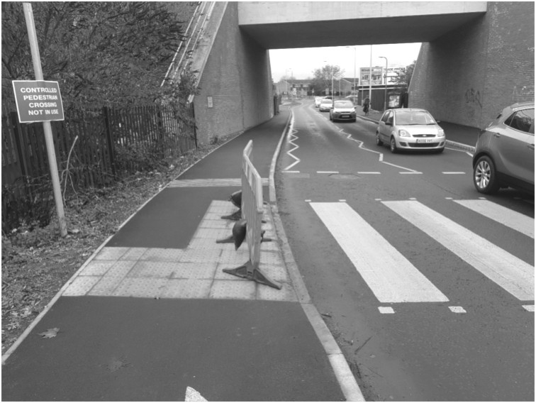 cyclists having to needlessly cross the road