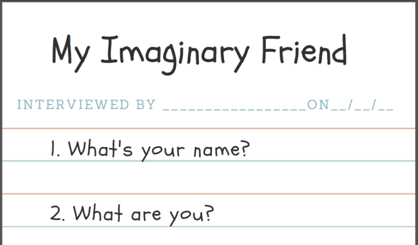 Imaginary Friends Questionnaire