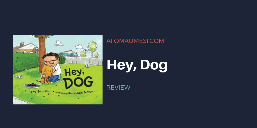 hey dog picture book review graphic