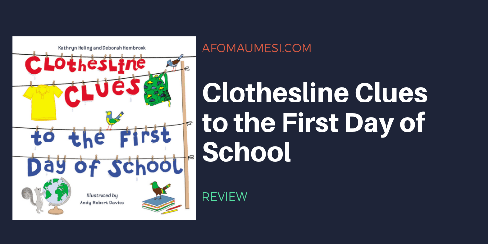 clothesline clues to the first day of school review graphic