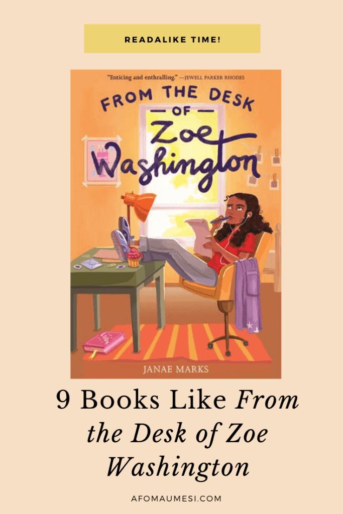 books like from the desk of zoe washington
