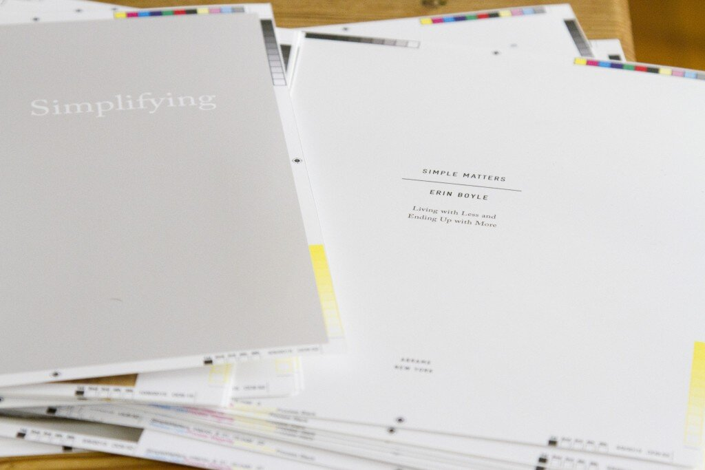 simple matters by erin boyle book proofs