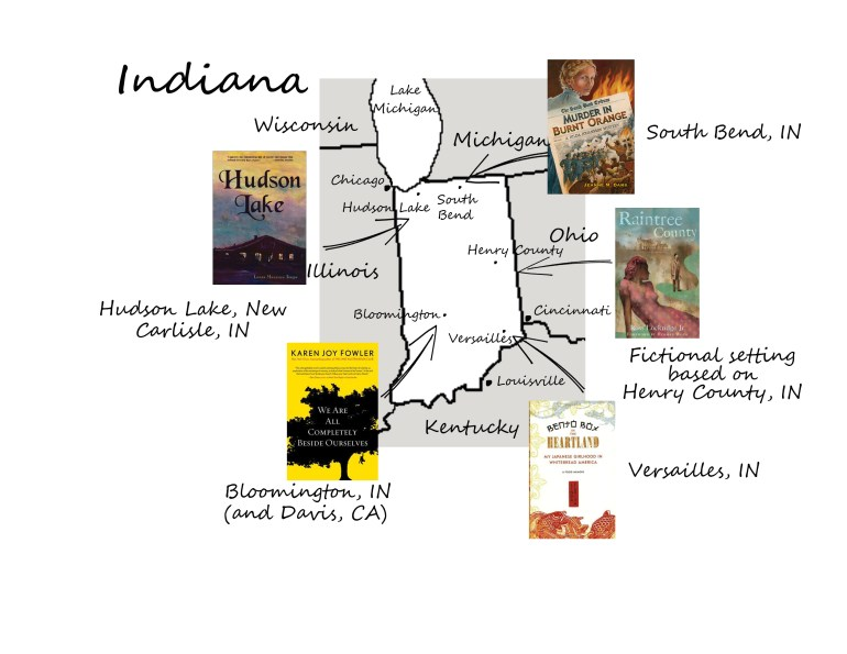 Indiana book map