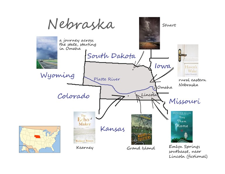 Nebraska book map