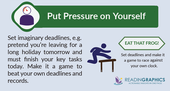 How to Stop Procrastinating_Pur pressure on yourself