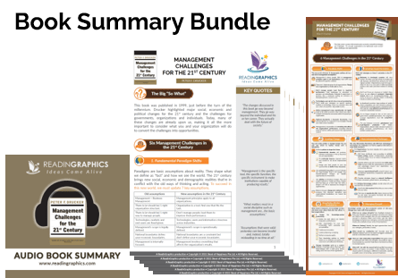 Management Challenges for the 21st Century summary - book summary bundle