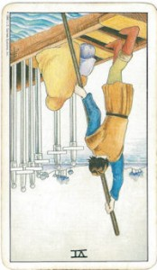 rider-waite tarot six swords card reversed