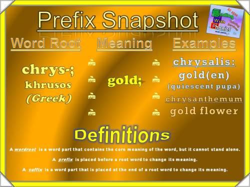 chrys- Prefix Snapshot