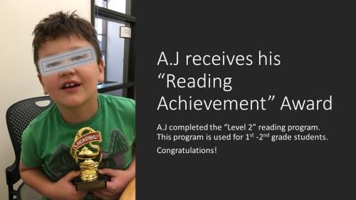 A.J. Achievement Award