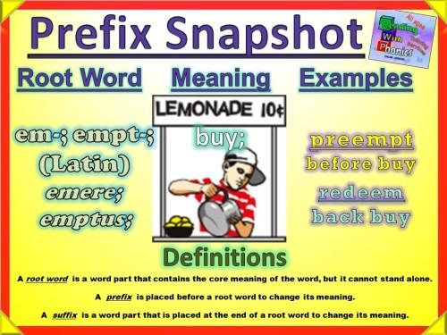 em-- empt- Prefix Snapshot