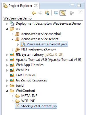 Step 3: JSP template, tag libs and servlet