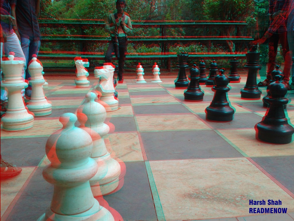 make 3d anaglyph images in Photoshop chess