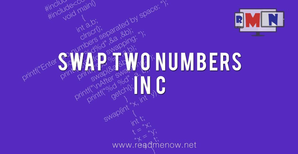 swap two numbers in C