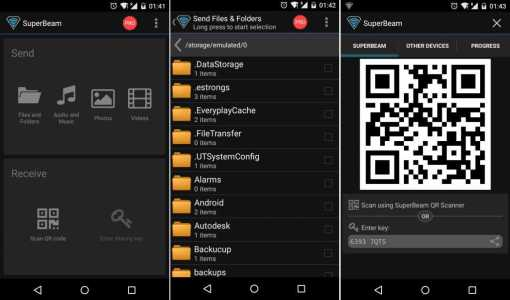 Android File Transfer - SuperBeam