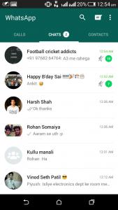 whatsapp material design chats