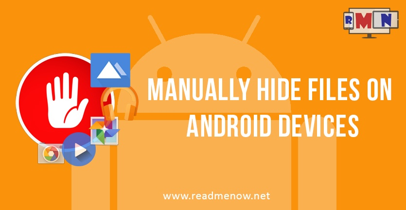 hide files on android