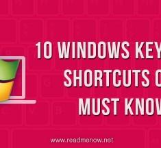 10 Cool Windows keyboard shortcuts