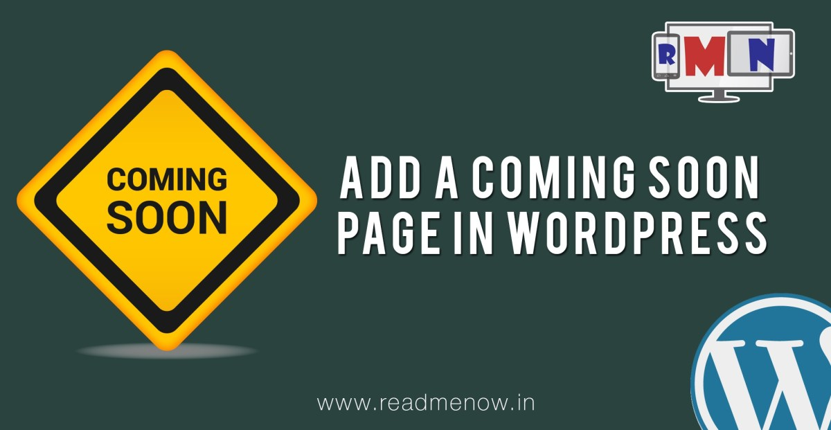 Wordpress Tutorial - Add a Coming Soon Page