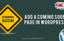 add a coming soon page in wordpress