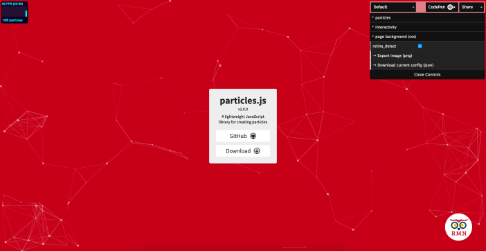 Particles.js Website
