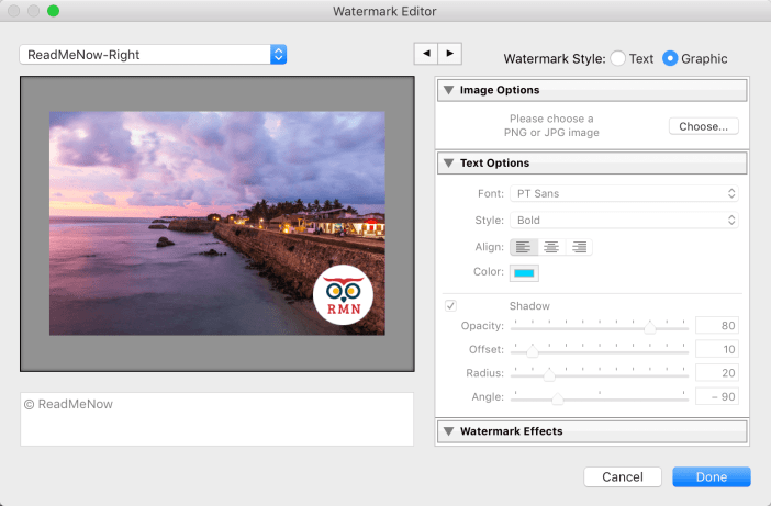 Preview Watermark Lightroom