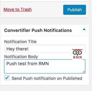 Send Browser Push Notifications - Convertifier