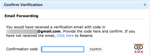 Zoho Mail Forward Confirmation Code