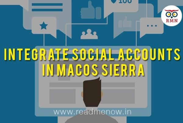 Integrate Social Accounts in macOS Sierra