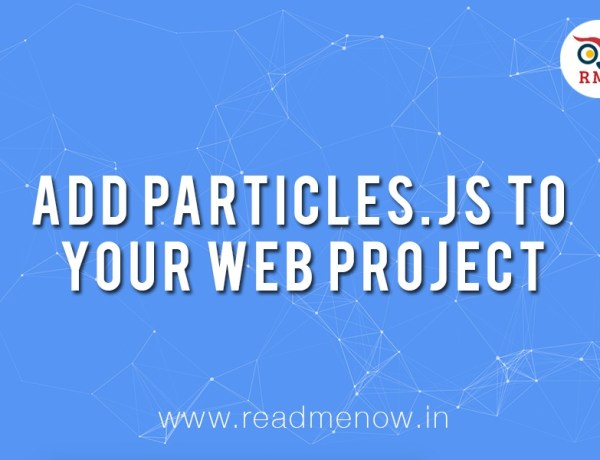 Tutorial: Add particles.js to your Web Project