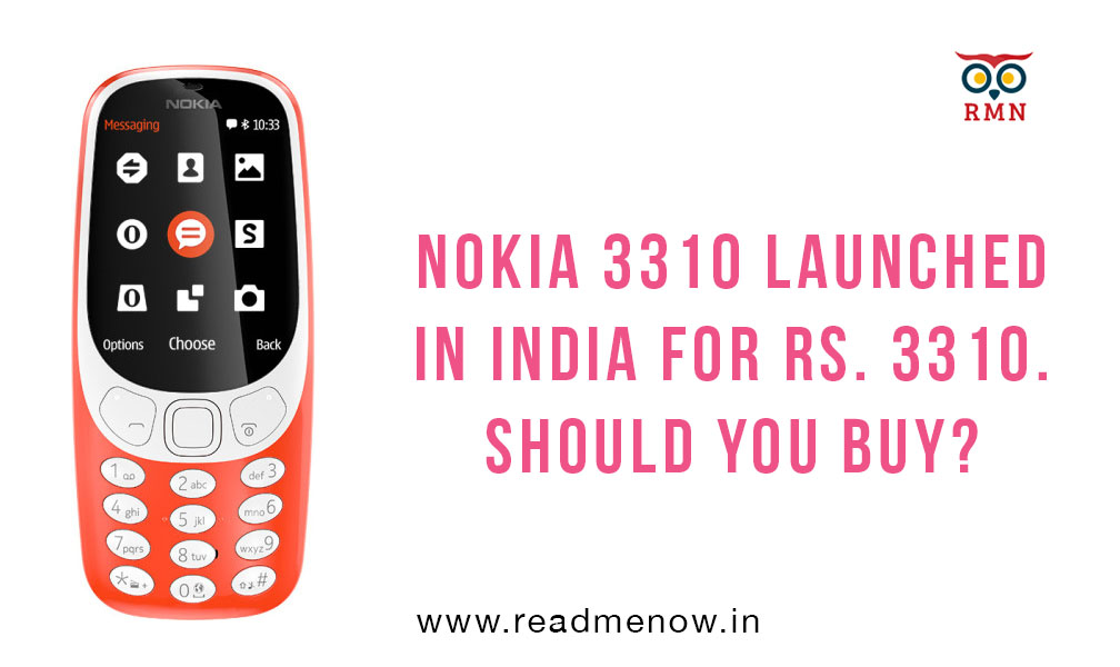 Nokia 3310 launched in India