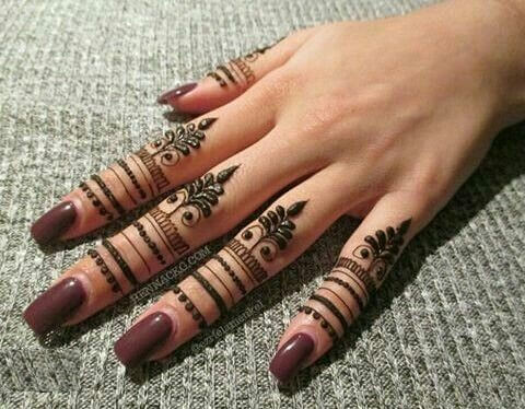 10. Finger Full Arabic Mehndi Design - Neueste arabische Mehndi Designs 2019