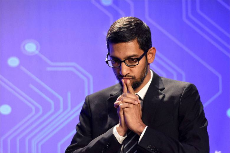 San Jose: Google CEO, Sundar Pichai during the Digital India and Digital Technology dinner function in San Jose on Saturday. PTI Photo by Subhav Shukla (PTI9_27_2015_000101A)