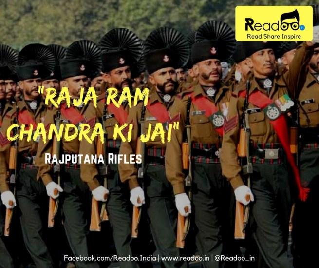 """Rajputana Rifles (19 Battalions) : """"Raja Ram Chandra Ki Jai"""""""