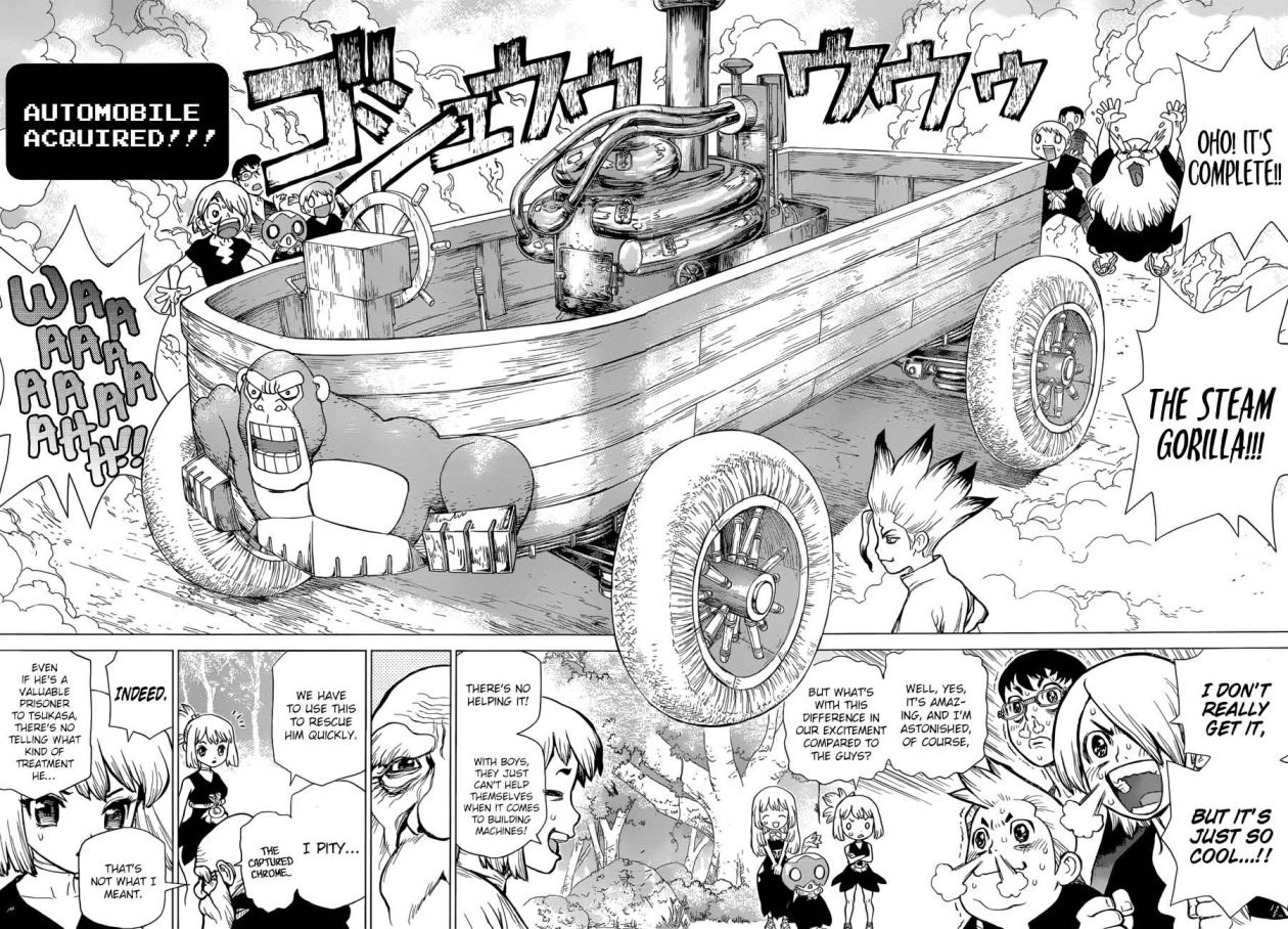 Dr. Stone : Chapter 69 - Steam Gorilla image 006