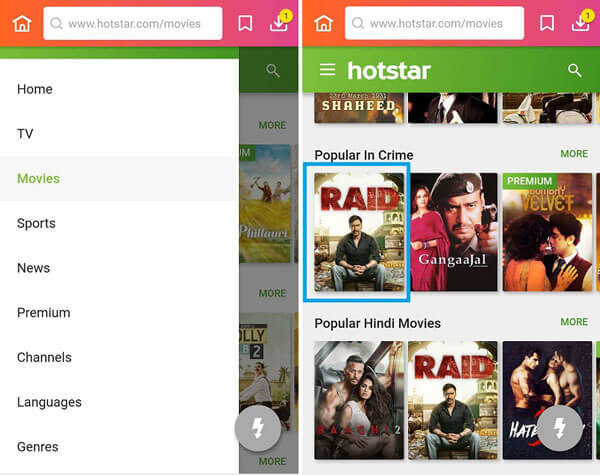 How to Download Movies with Hotstar