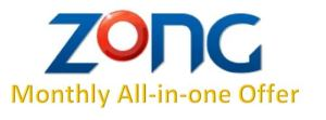 Zong Monthly All in One Offer