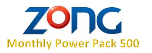 Zong Monthly Power Pack 500