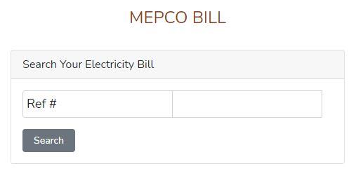 MEPCO Online Bill